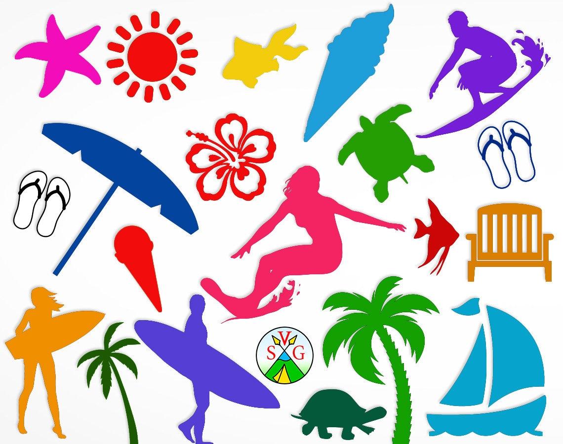 Download SALE Beach svg cut files summer cricut files surfer svg | Etsy