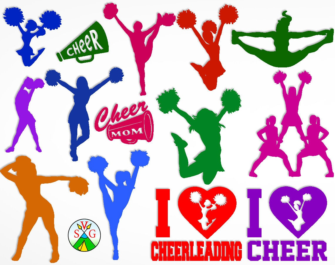 Sale Cheerleading Svg Cut Files Sport Cricut Cheer Etsy Craft Ideas Crafts Kick Embossing Cricket Circuit 50