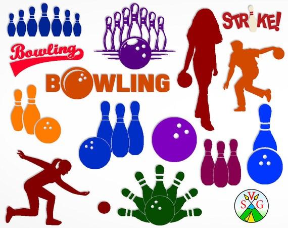 Sale Bowling Svg Cut Files Kegling Cricut Files Bowling Etsy
