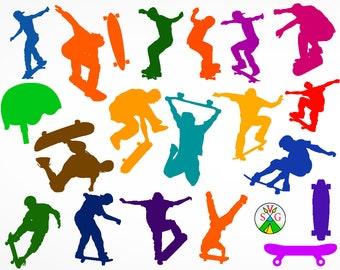 Skater svg cut files - skate cricut files - sport silhouette - Skate svg - hip-hop svg - Skater clipart files - svg, dxf, eps, png - ST18