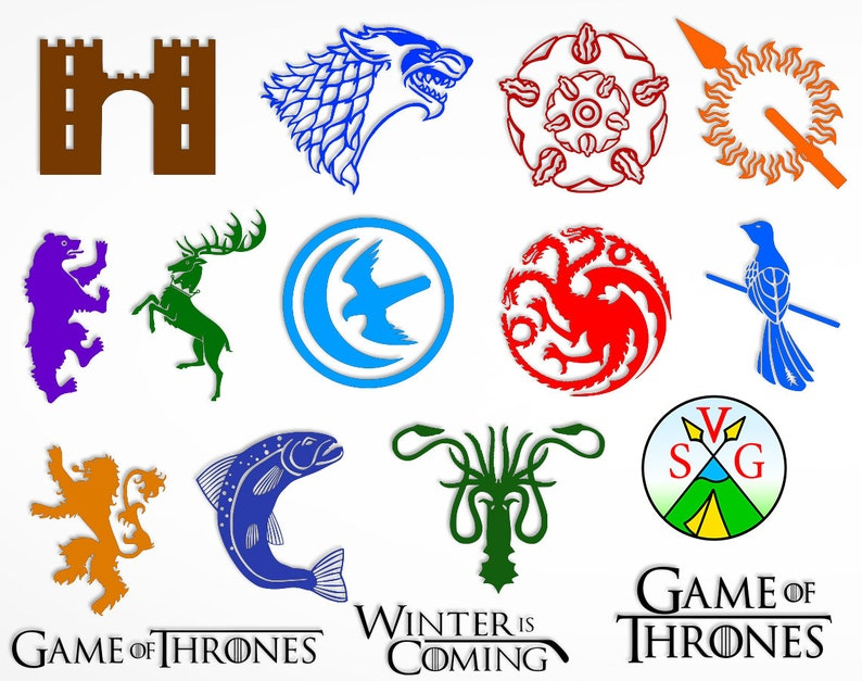 png SALE Lannister silhouette Game of thrones logo svg cut files dxf Game of thrones logo clipart- svg ST102 GOT cricut files