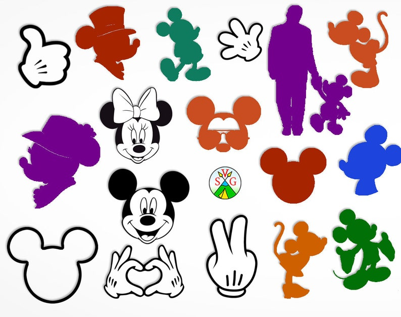 SALE - Mickey svg cut files - Disney cricut files - mickey mouse silhouette  - Mickey clipart files - svg, dxf, eps, png - ST78