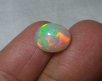 Natural Australian Opal Cabochon Gemstone 1.95 Ct Opal Ring Size Multi Fire Loose Gemstone Australian Opal October Birthstone 11x7x2 mm