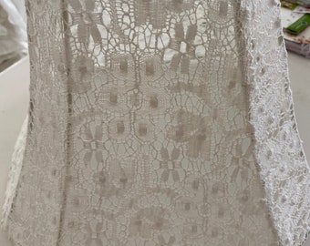 Cotswald Lace - Rachel Ashwell Cluny Lace -  Lampshade - new - Gorgeous! Shabby perfection!
