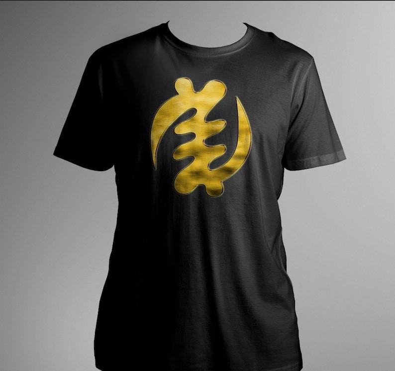 bd0c2d7a659 Gye Nyame Afrocentric T-shirt Tee African Adinkra Symbol Black