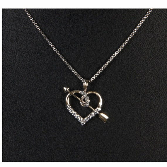 925 Sterling Silver 0.25 Ct Round Cut Simulated Diamond Double Heart Pendant With 18 Chain