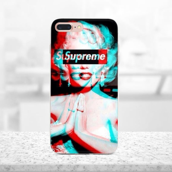 supreme iphone x case marilyn monroe iphone 8 plus case etsy