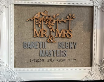 Personalised wedding frame gifts