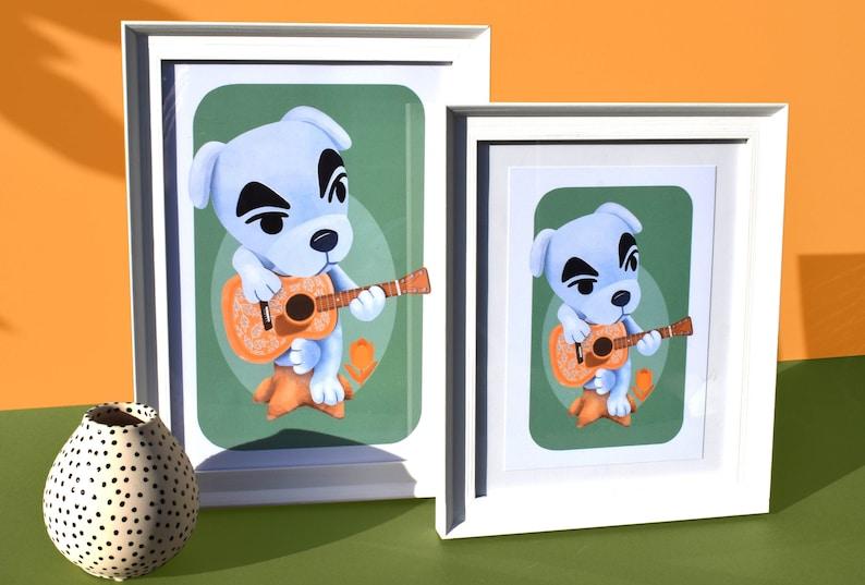 animal crossing new horizons  acnh kk slider art print