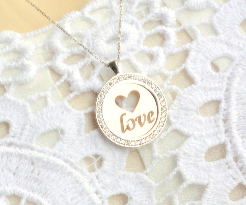 Lover Name Necklace Rose Romantic Necklace Love Silver Jewelry Rose Gold Custom Monogram,Personalized Woman Jewelry Gift to Girlfriend