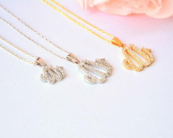 743661bbaeaf KLEINE Silber ALLAH Halskette Allah Silber Halskette Name   Etsy
