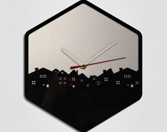 City Handmade Modern Wall Clock