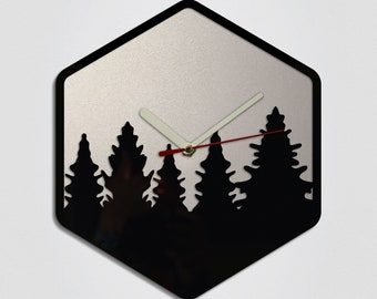Trees Handmade Modern Wall Clock