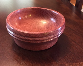 Purpleheart wood bowl