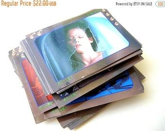 On Sale 75 Alien Trading Cards 1992, Vintage Alien Cards, Science Fiction Movie Cards, Sigourney Weaver