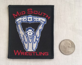 Mid-South Wrestling embroidered patch