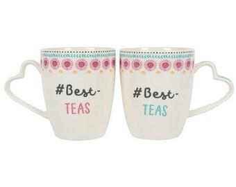 5e13546aebc Set of 2 Beauty & Beast Stacking Mugs | Etsy