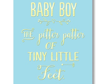 Baby Boy… …the pitta patter of tiny little feet. card