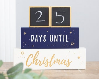 Countdown until Christmas stacked blocks