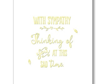 With Sympathy… …thinking of you at this sad time. card