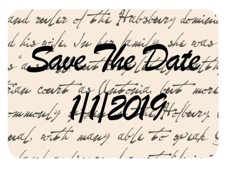 Custom Print Save The Date Wedding Stickers