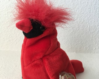 1b6a3258370 Mac - Ty Beanie Babies Collection - Mac Red Cardinal Beanie Baby - Rare 4  Errors