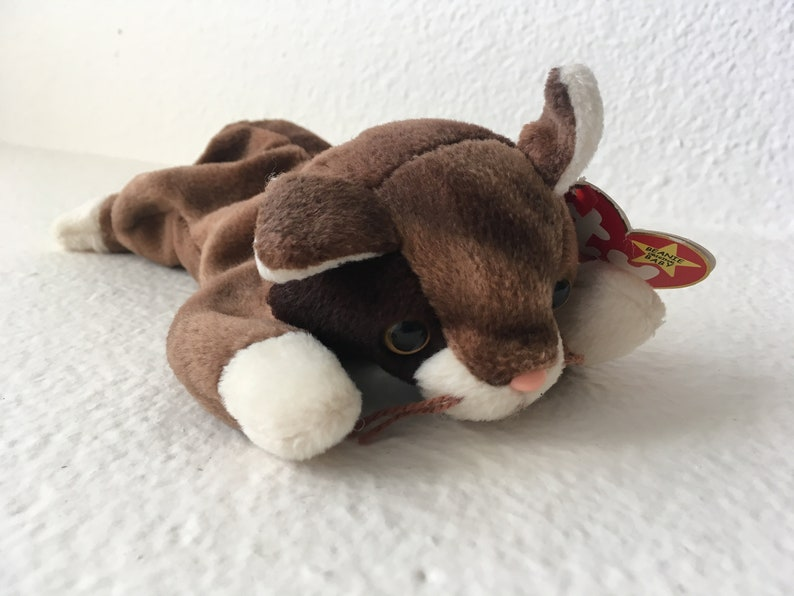 a13d4ccb7ff Pounce Ty Beanie Babies Collection Retired Cat Beanie Baby