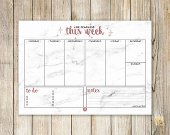 Marble Weekly Desk Planner