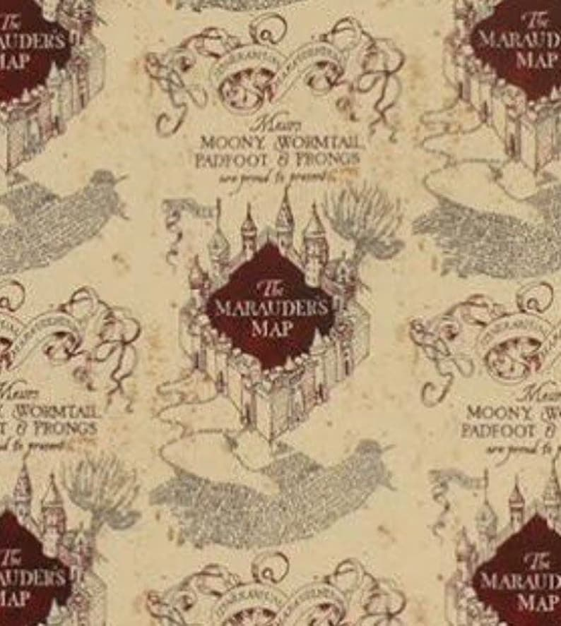 Harry Potter The Maps Headwrap