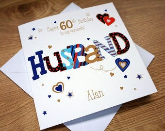 Personalised HUSBAND 60TH Birthday Card
