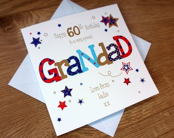 Personalised GRANDAD 60TH Birthday Card