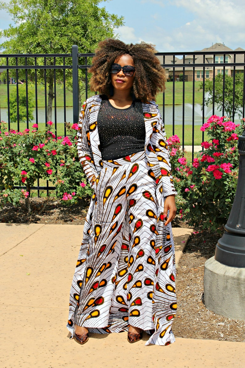 c489ba82da8e1 Morola Long Top and pant set ankara dress african