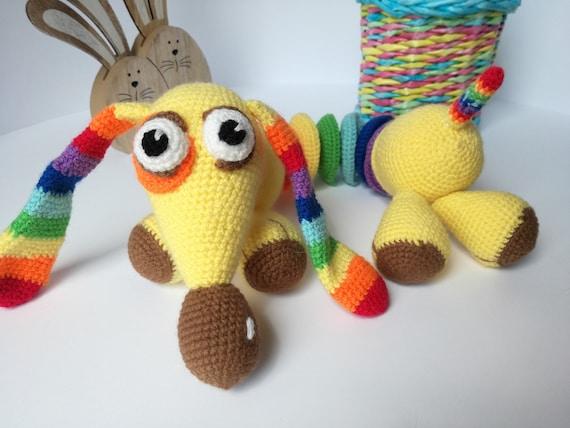 Crochet Dog Knit Dog Amigurumi Toyanimal Soft Dog Toy Etsy