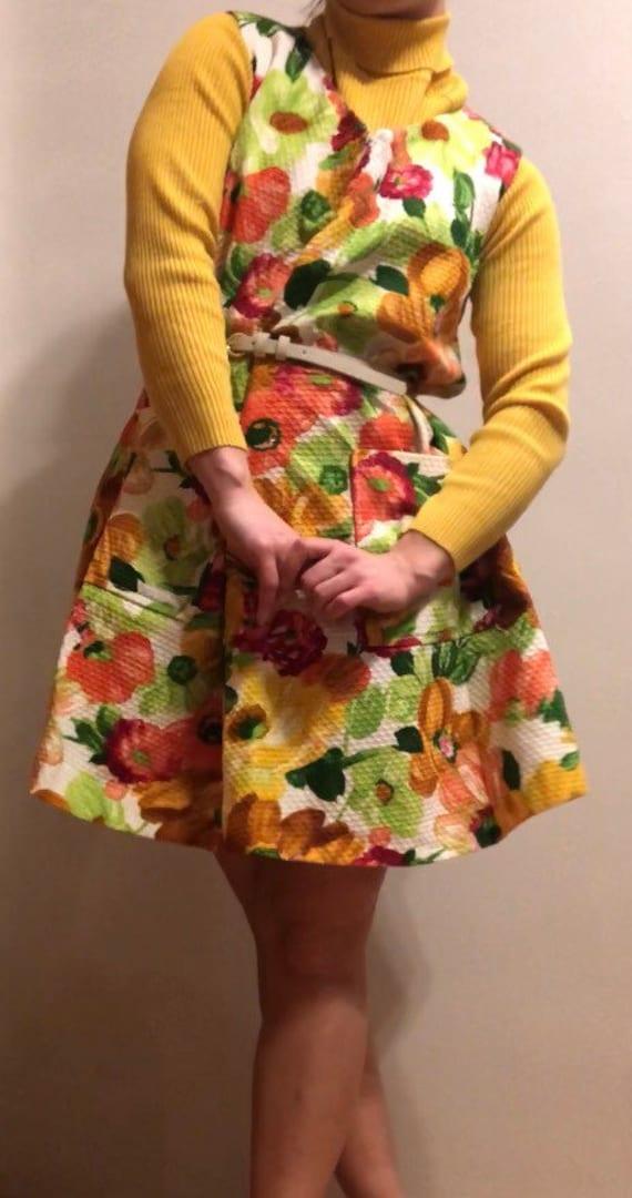 Vibrant 1960s Marjorie Hamilton dress.