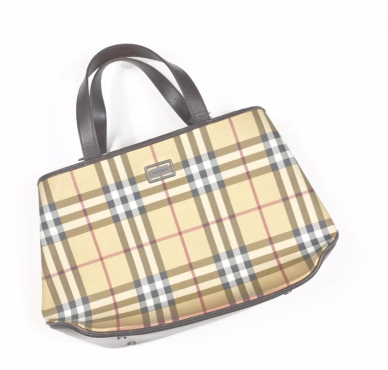 20c6bc9ffea38 Authentic Burberry Tote bag in Nova Check Print 90s y2k bag