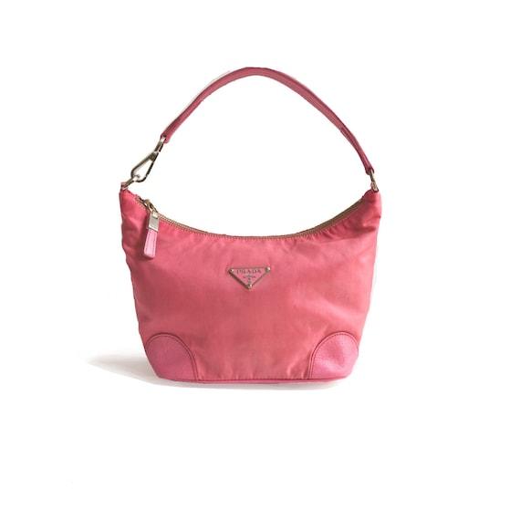 Authentic Prada Nylon Mini Shoulder Bag in Pink 90