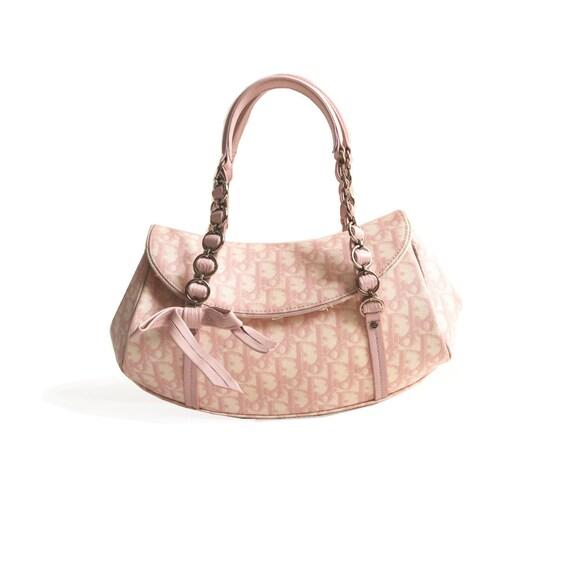 Authentic Dior Monogram Shoulder Bag in Pink 90s y