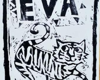 Lino nom personnalisé coupe tigre