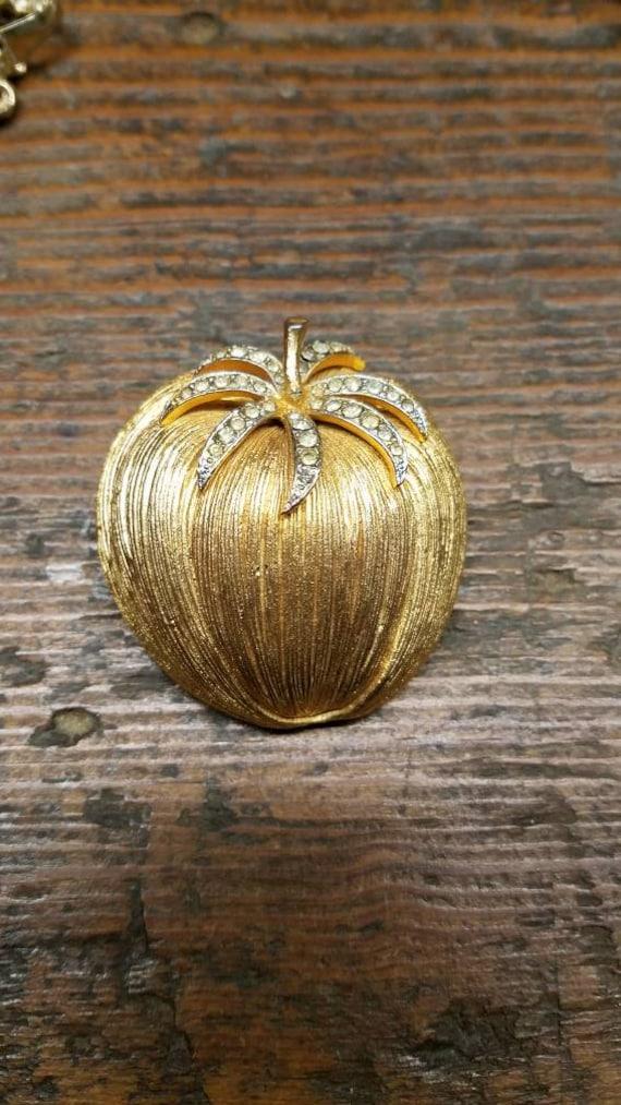 Corocraft Pumpkin Brooch