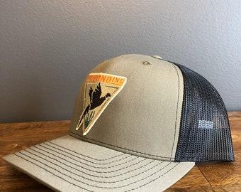 76b11df6aa8 Loden Black Richardson 112 Snap Back Patch Hat