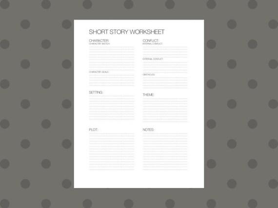 Writing Worksheet Short Story Outline Etsy
