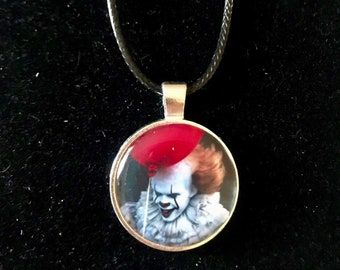 Horror It Pennywise Necklace on Faux Leather Cord