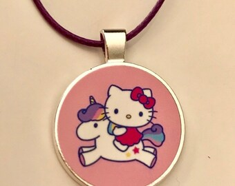Hello Kitty Necklace on Faux Leather Cord