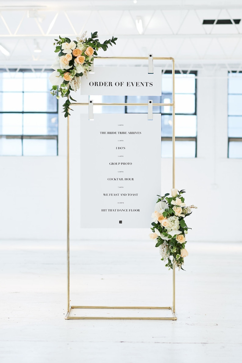 Custom Copper Wedding Seating Chart Stand