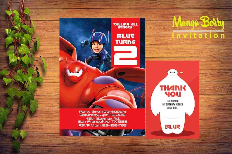 Big Hero 6 Invitation Birthday