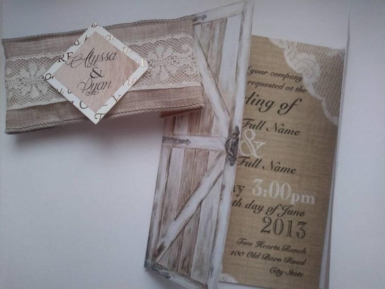 50 Distressed Barn Door Wedding Invitations
