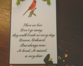 100 funeral remembrance feed the birds cardinal angel seed packets