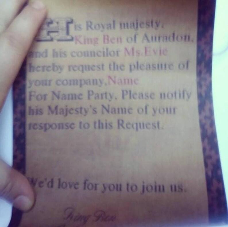 50 Decendants Auradon birthday party invitations