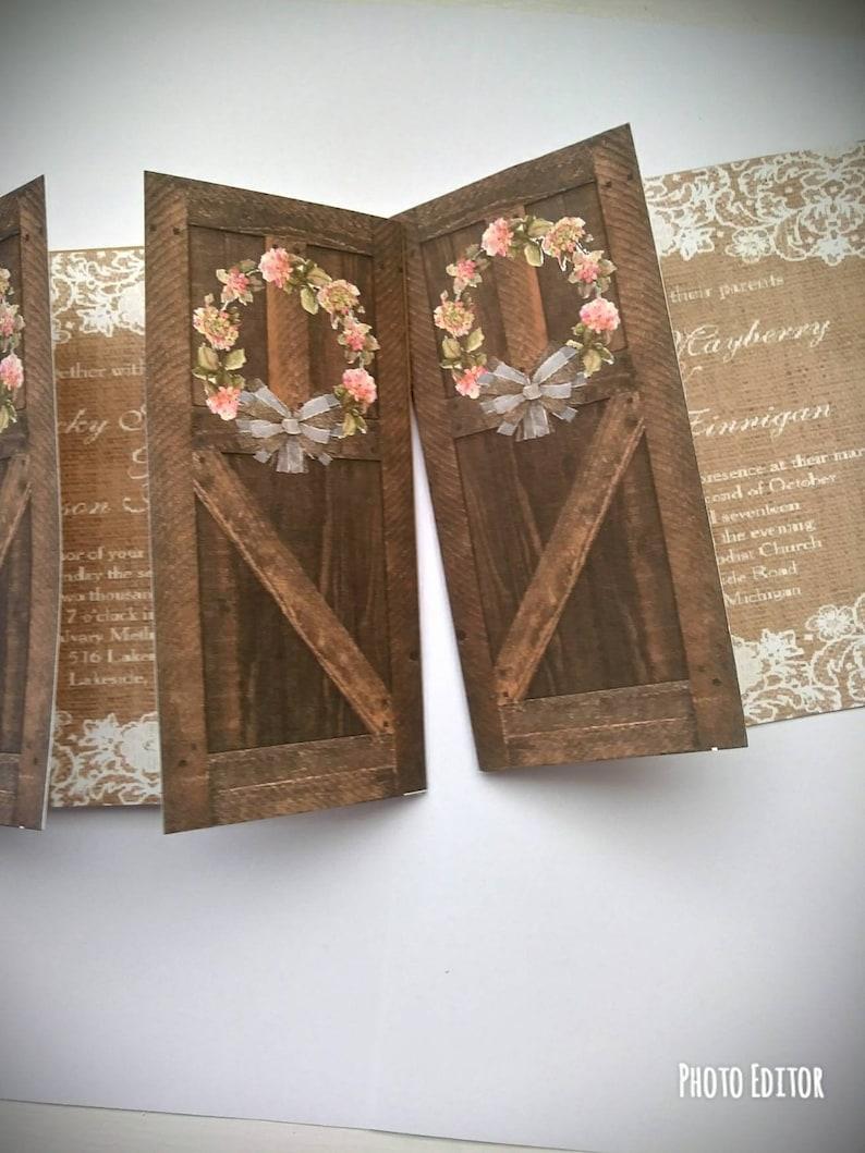 Image 0: Wedding Invitations Barn Door At Websimilar.org