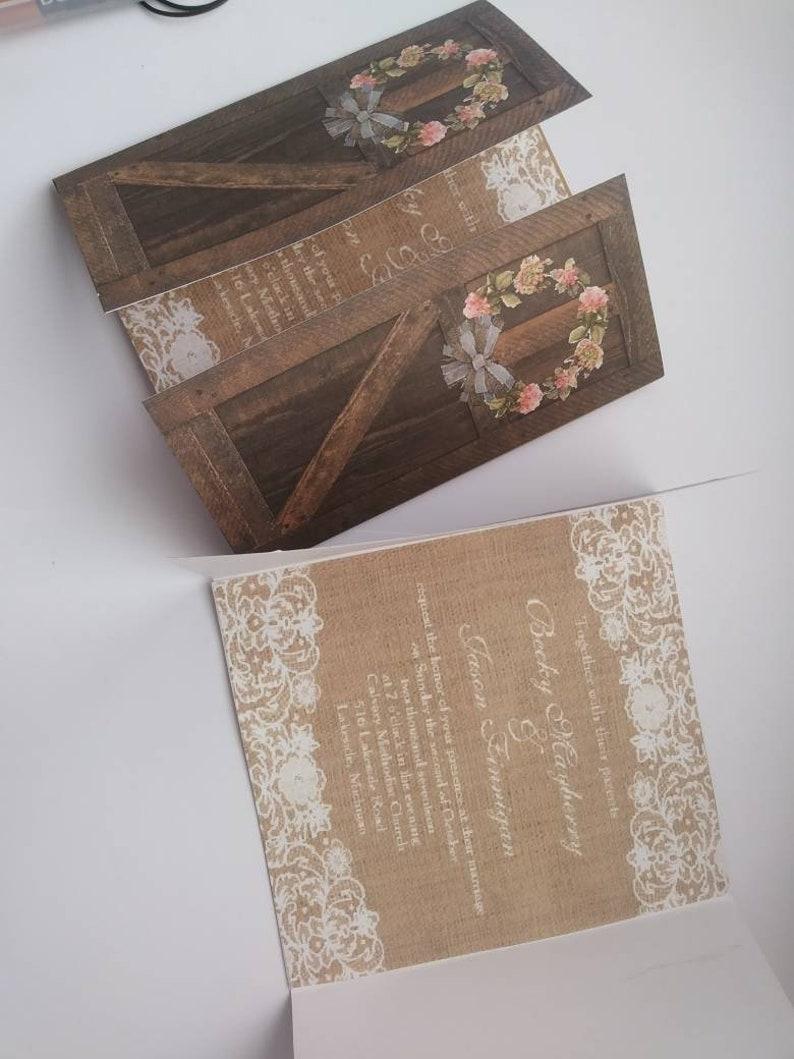 Image 0 1: Wedding Invitations Barn Door At Websimilar.org
